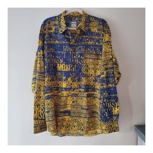 Moschino Blue/Yellow Button Down Size XXL